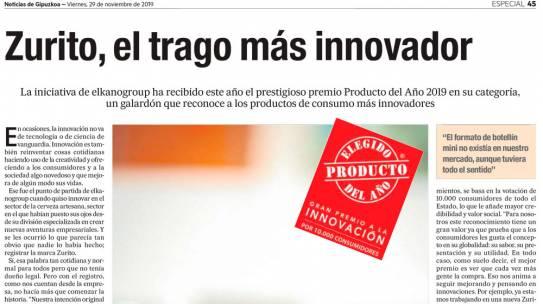 Noticias de Gipuzkoa – Zurito, el trago más innovador
